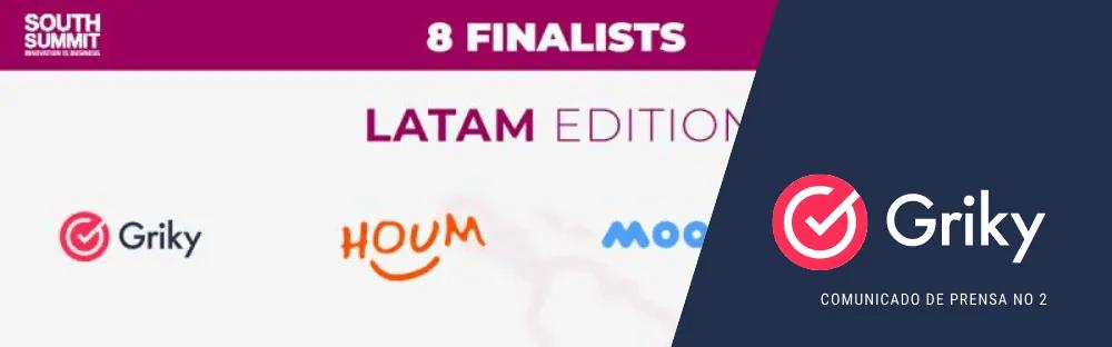 Comunicado de prensa 2: Griky como una de las 3 Startups más disruptivas en Latam